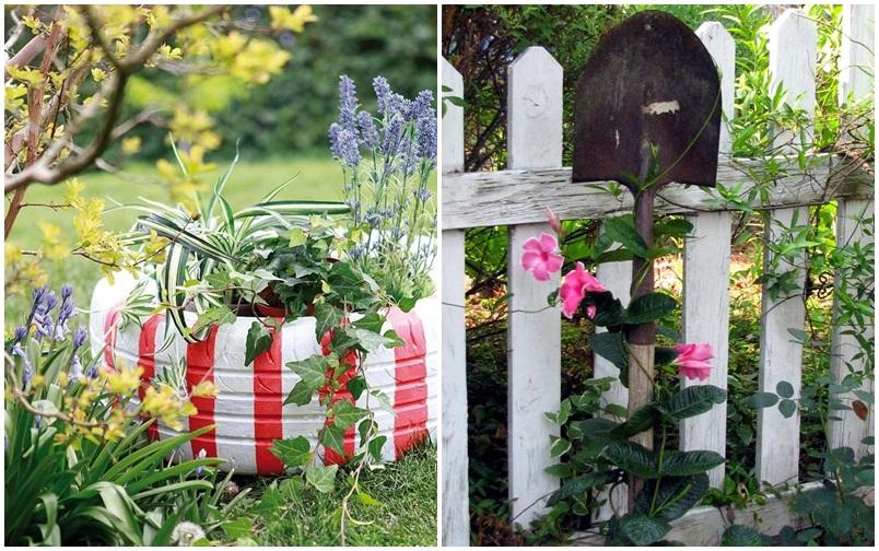 újrahasznosítás kert
