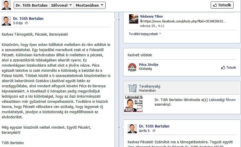 Tóth Bertalan FB