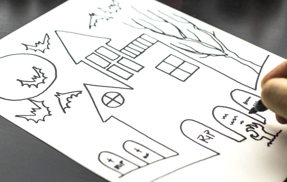 Rajzolj egy h zat megmondom ki vagy Haunted house drawing ideas