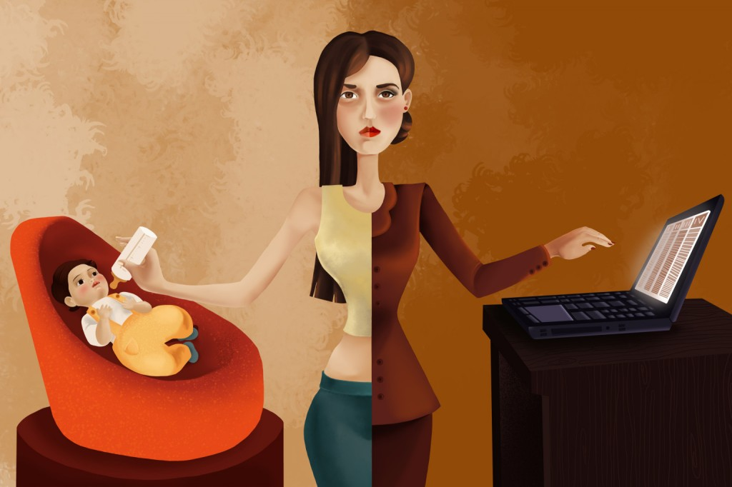 dolgozó nő, munka, állás, gyerek, család, gyes, gyed
