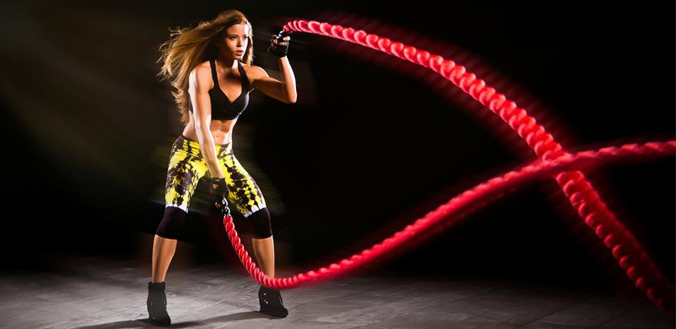 edzés, kötéllel