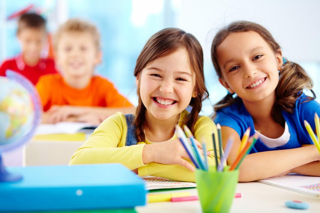 gyerek, vidám, iskola, barát