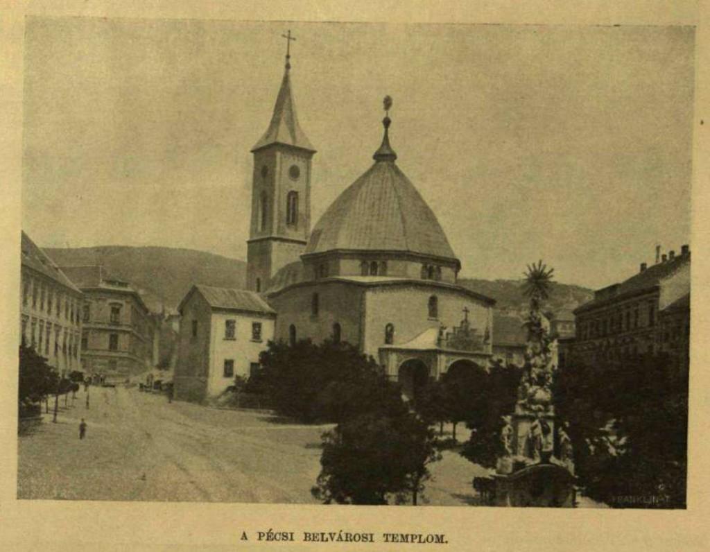 Pécs belvárosa, valamikor az 1900-as évek elején