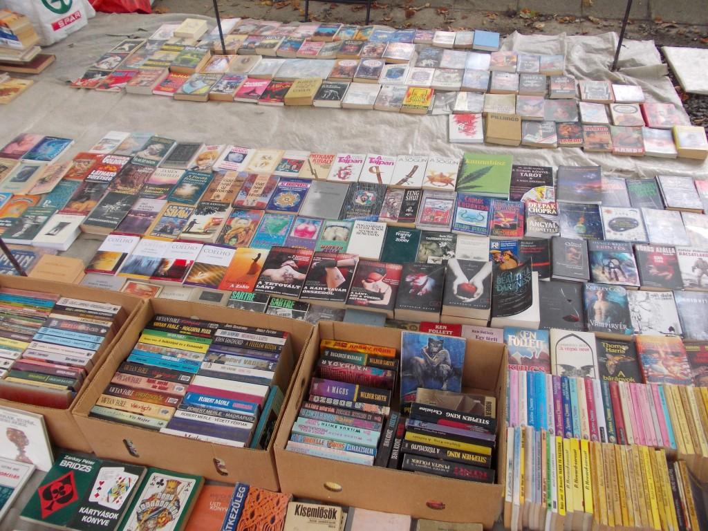 Egy kisebb könyvtár a vásár közepén