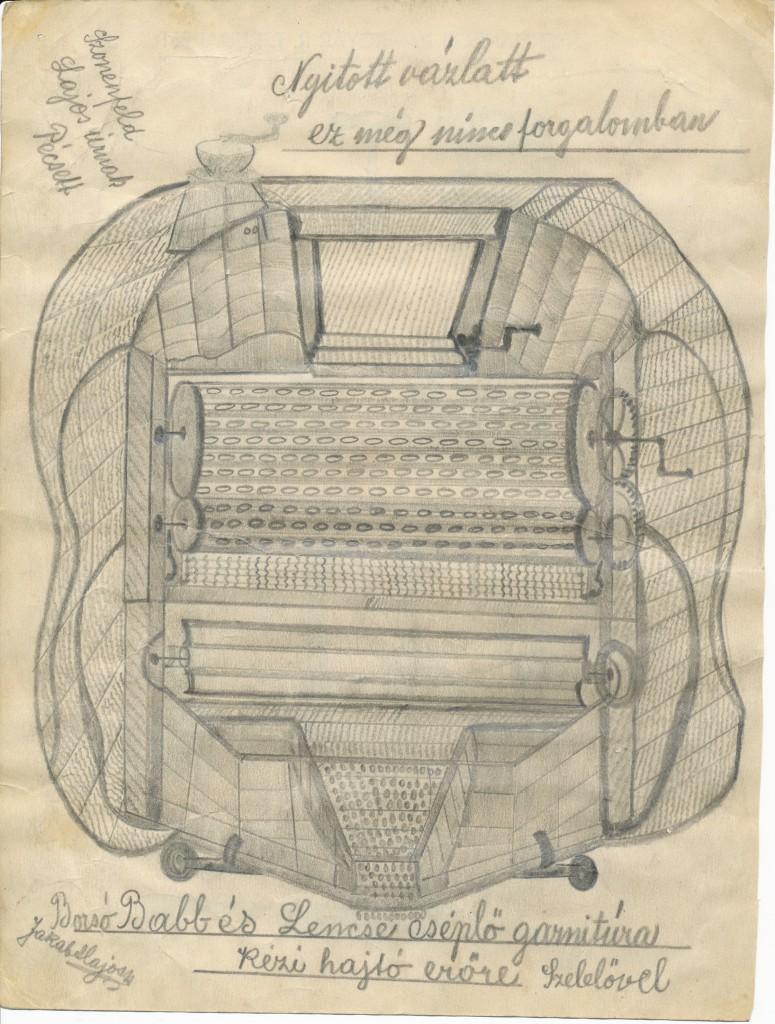 Egy írógép tervrajza - J. A. munkája