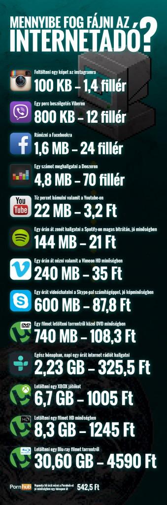 Mennyibe kerül a net? Ennyibe!
