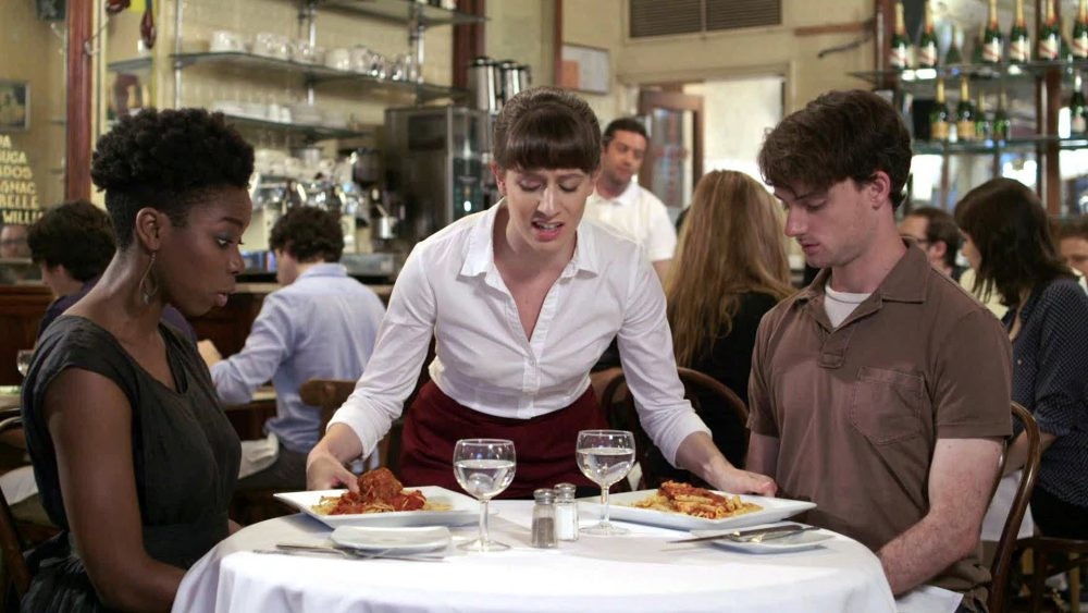 Étterem, rossz, kiszolgálás, étel, vacsora, pincér