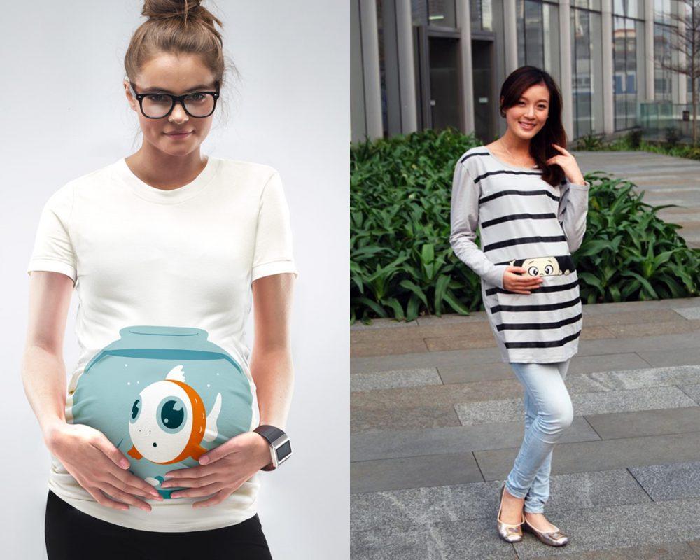 Kismama, divat, póló, terhes, várandós
