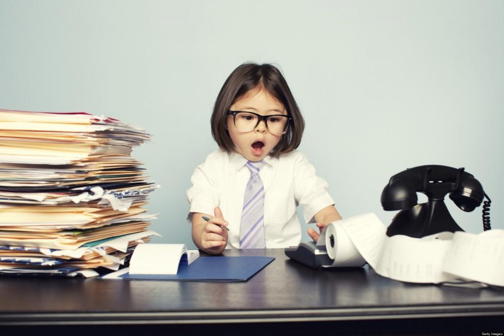 gyerek a munkahelyen