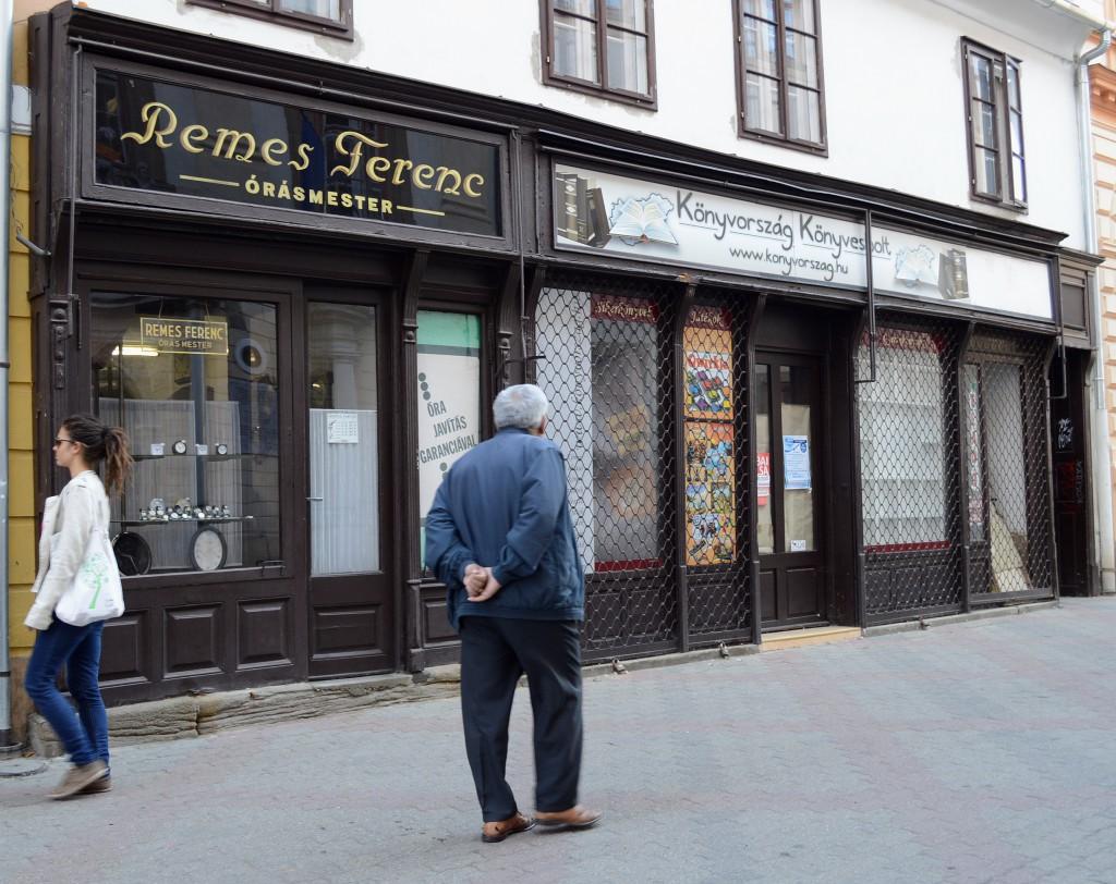 Remes Ferenc órásmester boltja