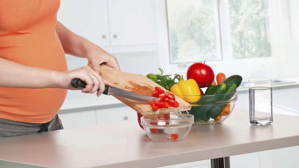 konyha, főzés, egészség, nő, terhes
