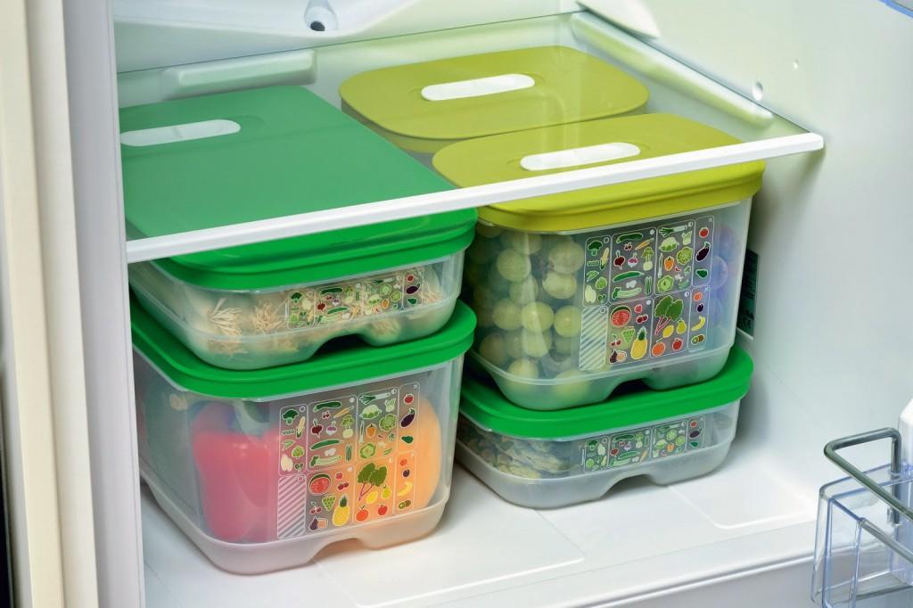 hűtő, doboz, étel, konyha