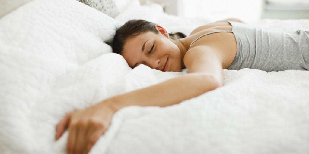 nő, pihen, fekvés, alvás, karácsony