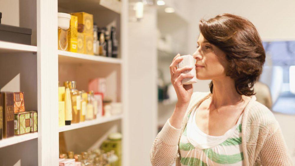 illat, parfüm, áru, üzlet, vásárlás