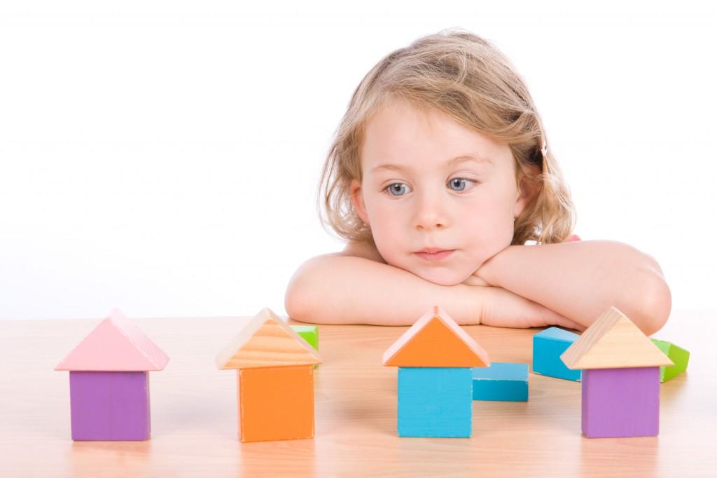autizmus, gyerek, játék, család