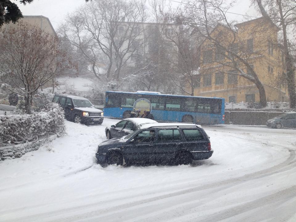 Havazás, hó Surányi út vége