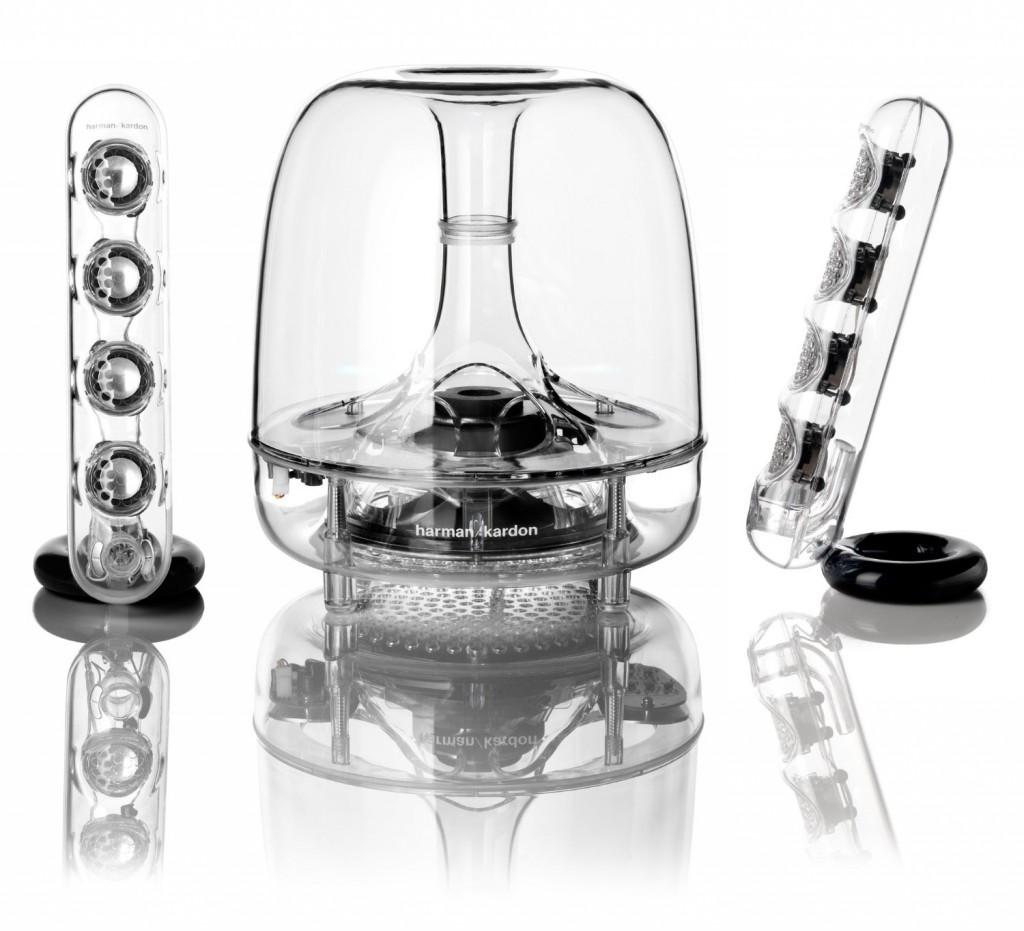 A Harman egyik csúcskategóriás asztali hangsugárzó szettje