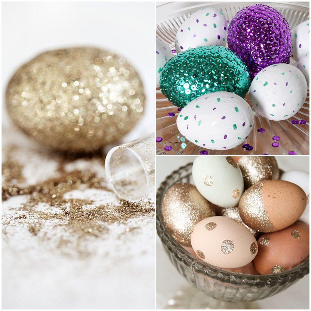 húsvéti tojás csillámmontázs