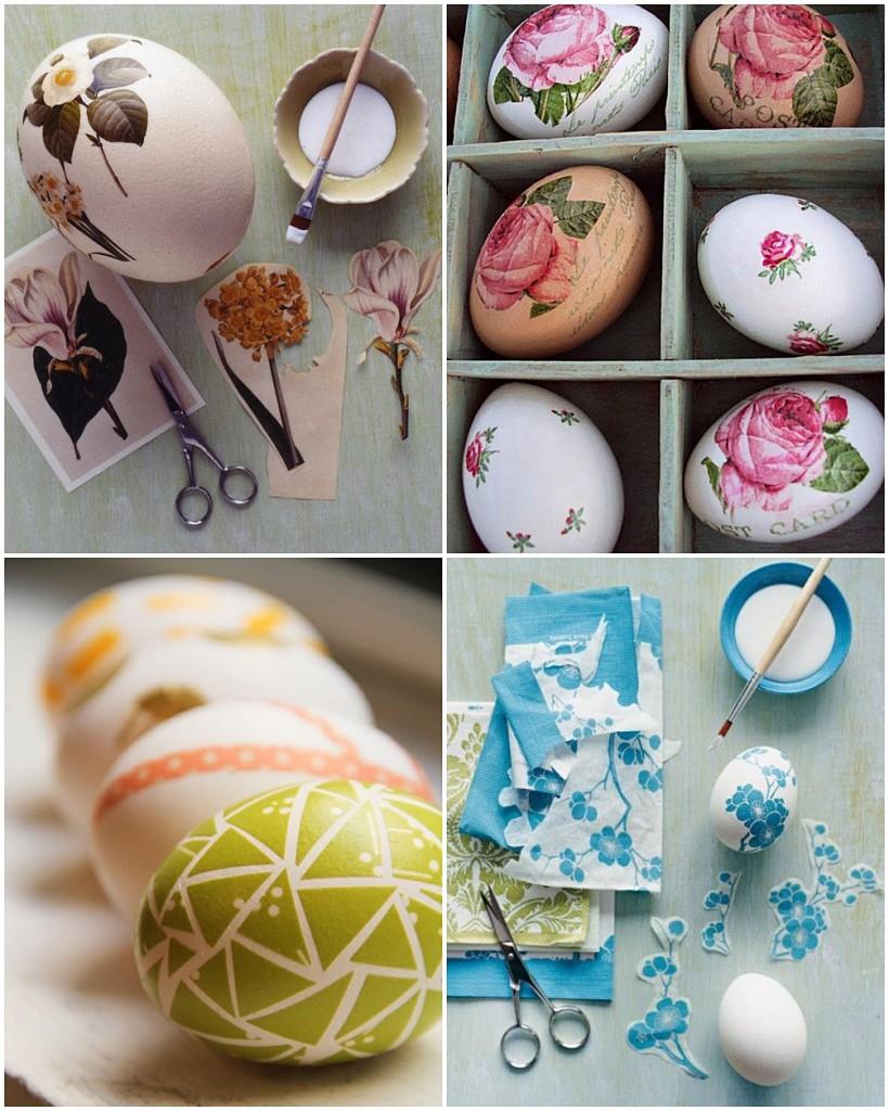 húsvéti tojás dekupázsmontázs