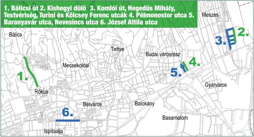 Tettye térkép