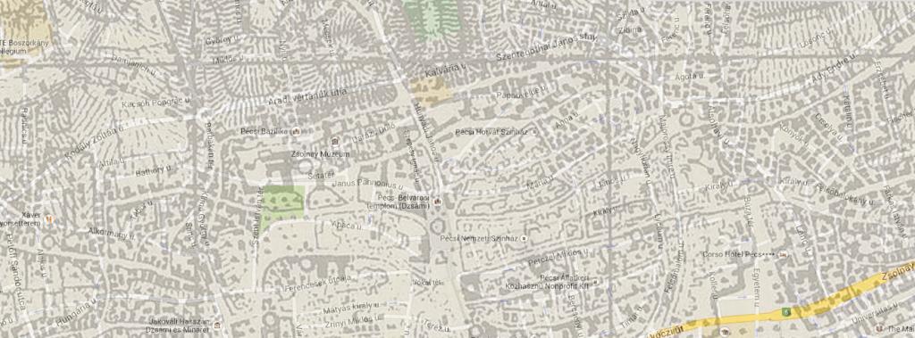 A mai, és a százéves térkép egymáson