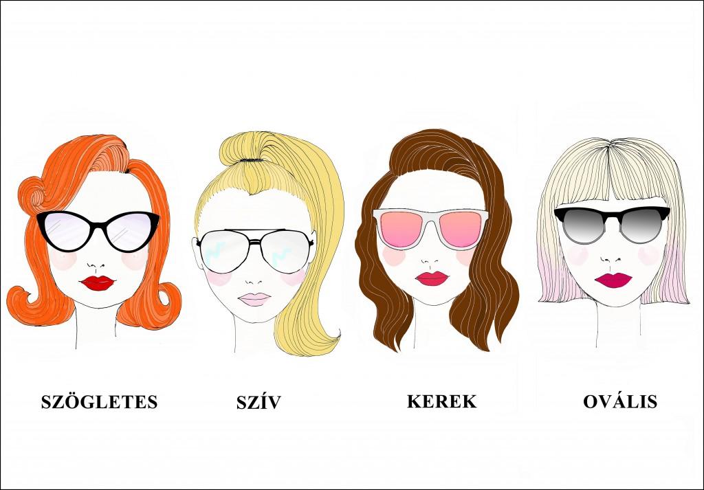 arcformák, napszemüveg