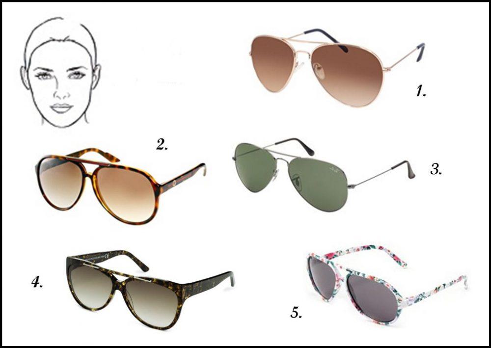 ovális arcforma, napszemüveg