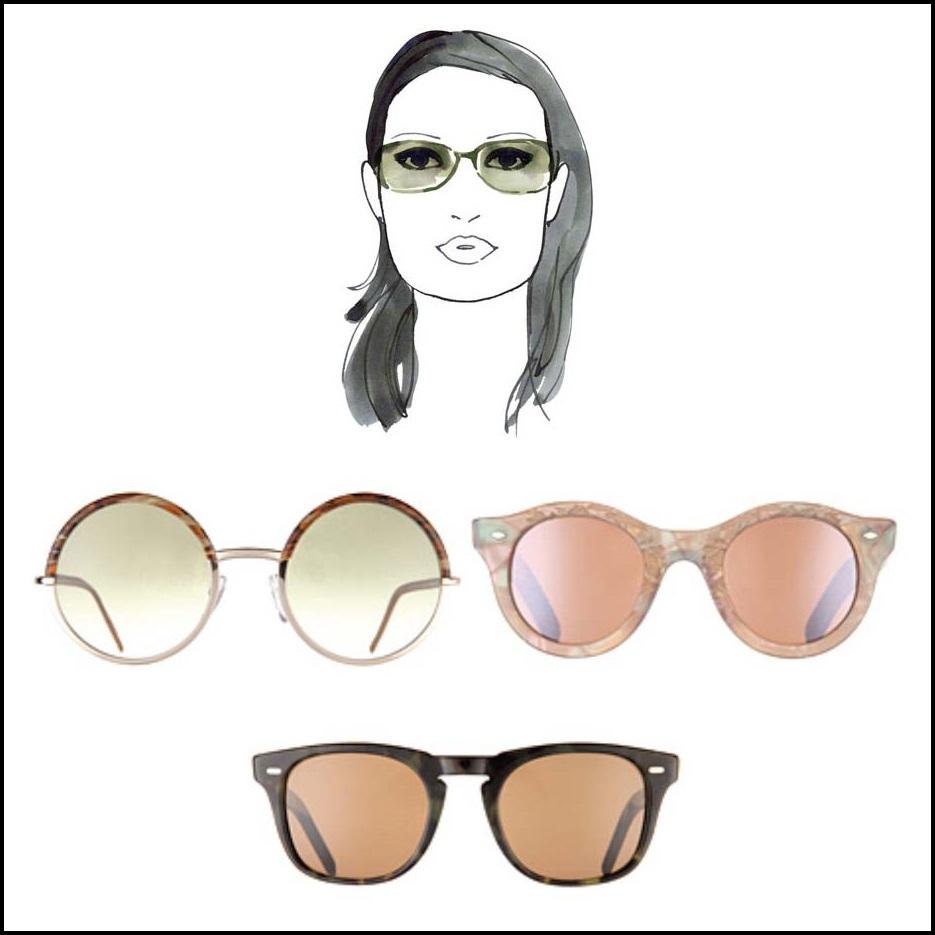 szögletes, napszemüveg
