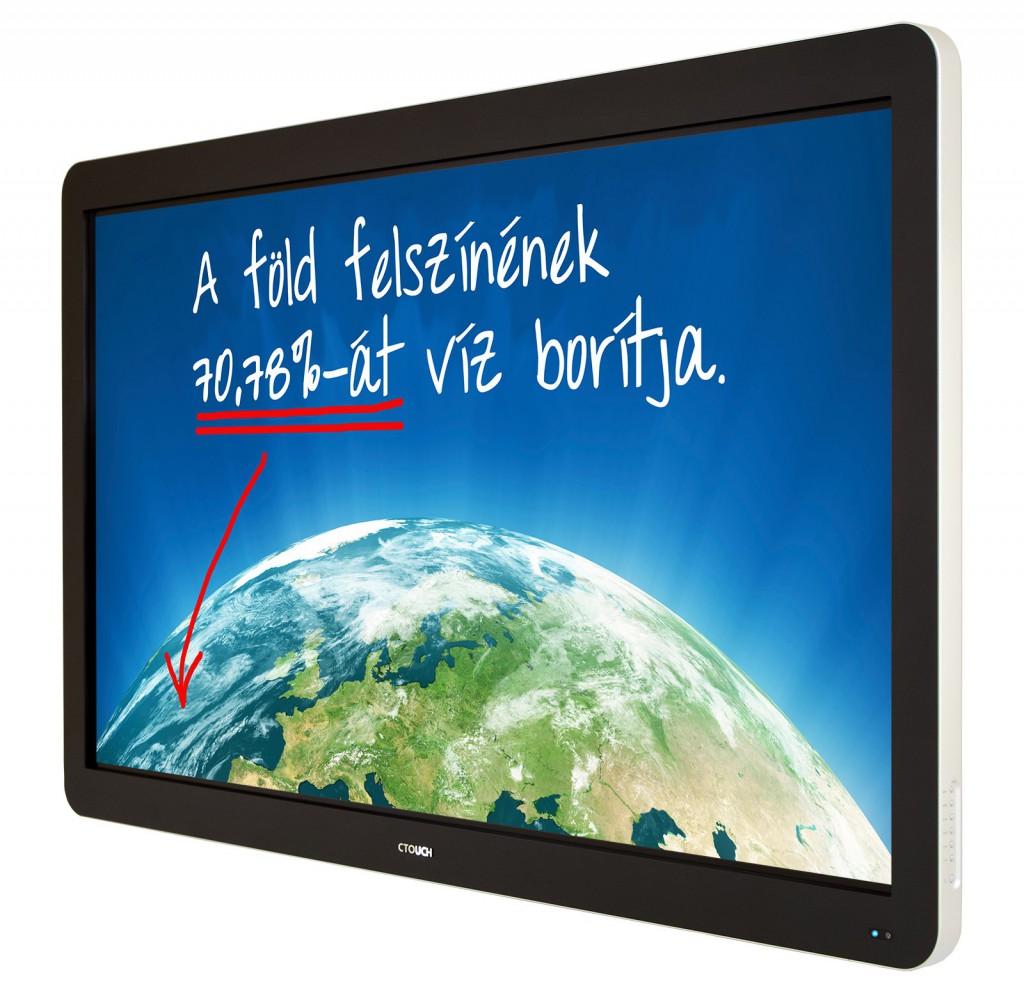 Az interaktív táblával könnyebb, gyorsabb és hatékonyabb tanítani