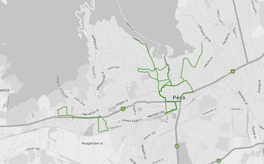 e-busz - térkép