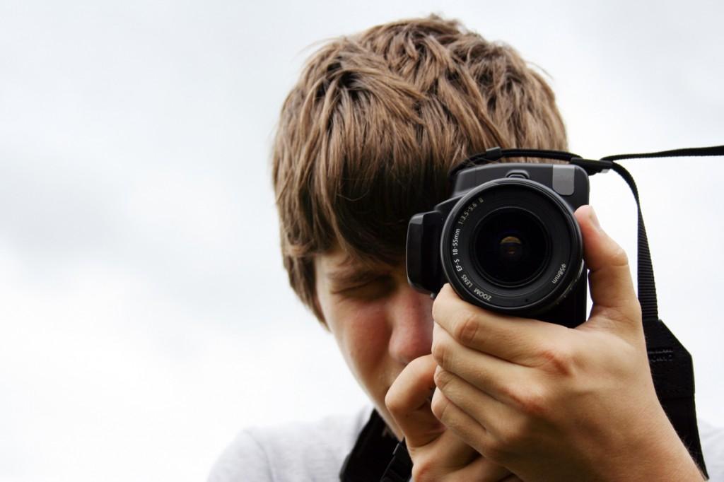 fénykép, kamasz, fotótábor