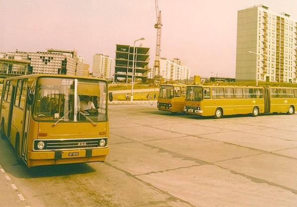 Mindig változtak a buszmegállók: a Nevko végállomás a '80-as évek elején
