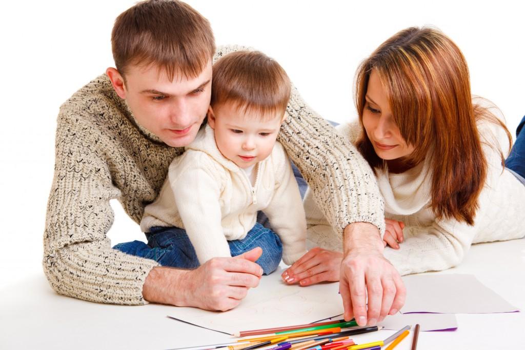 gyerek, szülő, játék