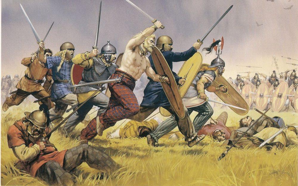 A kelták a rómaiak ellen támadnak