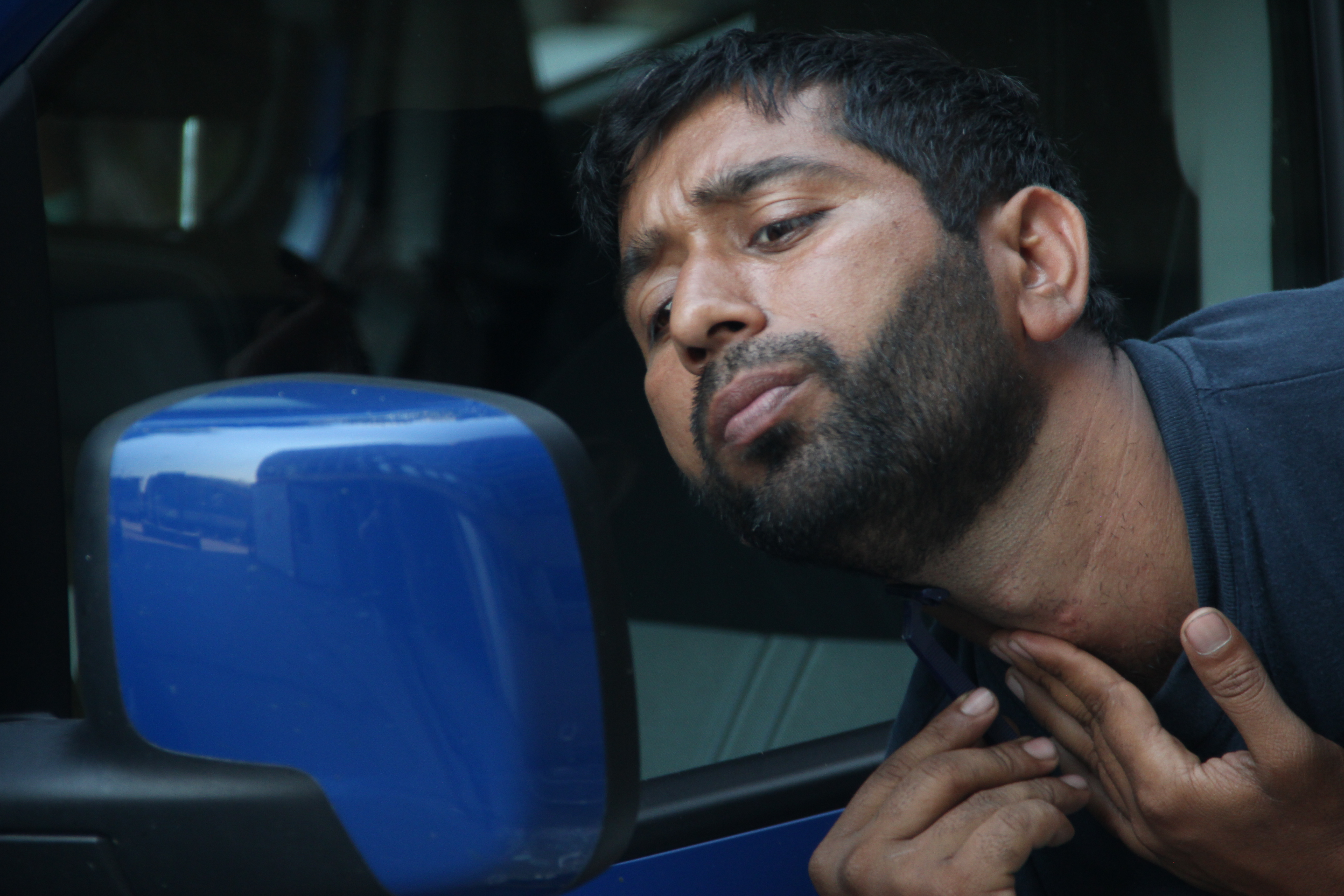Így borotválkozik egy menekült