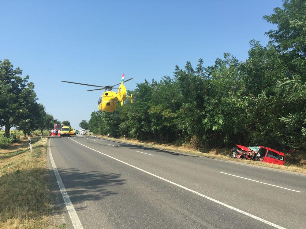 A mentőhelikopter sok motoros balesetnél megjelenik