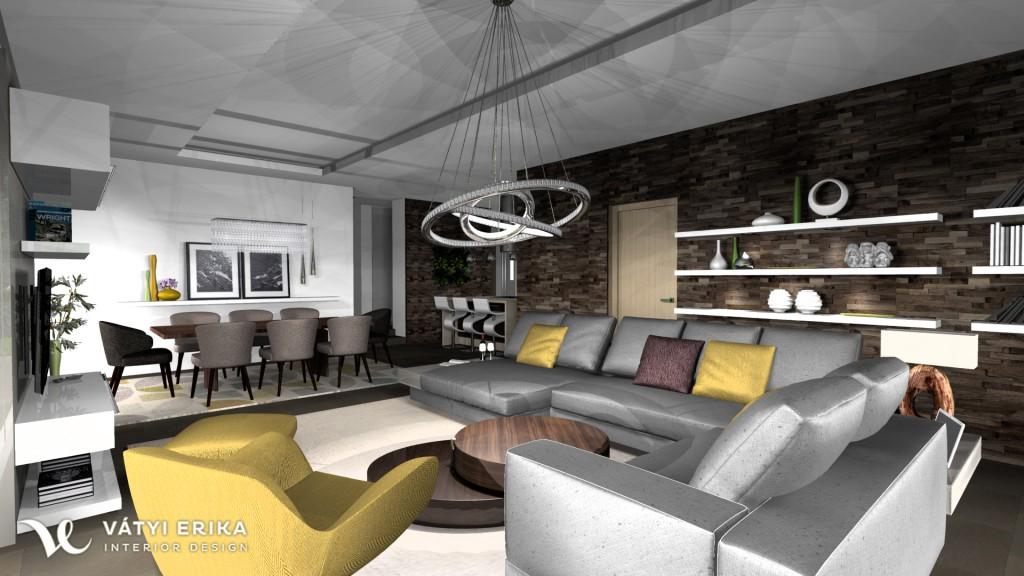 Vátyi Erika Interior Design - Villányi passzív ház 3D