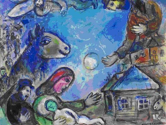 Chagall Kék Faluja is látható lesz