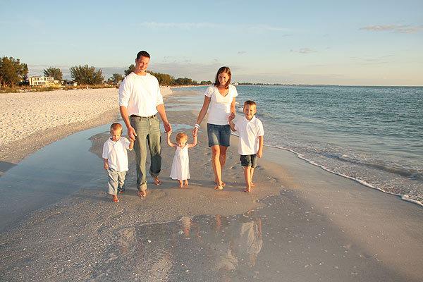 Mária és családja Hawaii-on