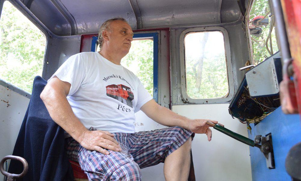 Andrócz meghajtotta nekünk a vonatot