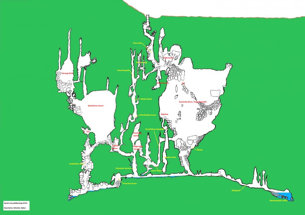 A Spirálbarlang térképe
