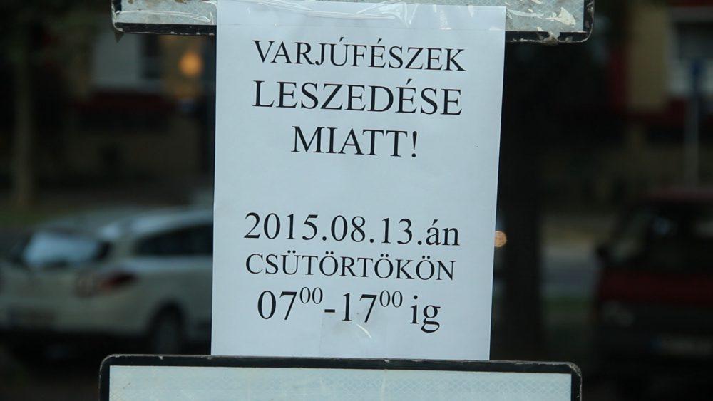 A parkolás a környéken tilos volt