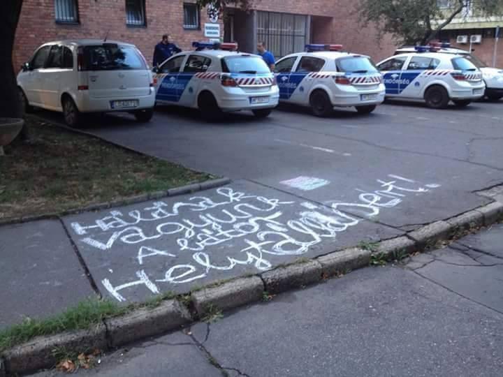 migráns, rendőrség, rendőrök