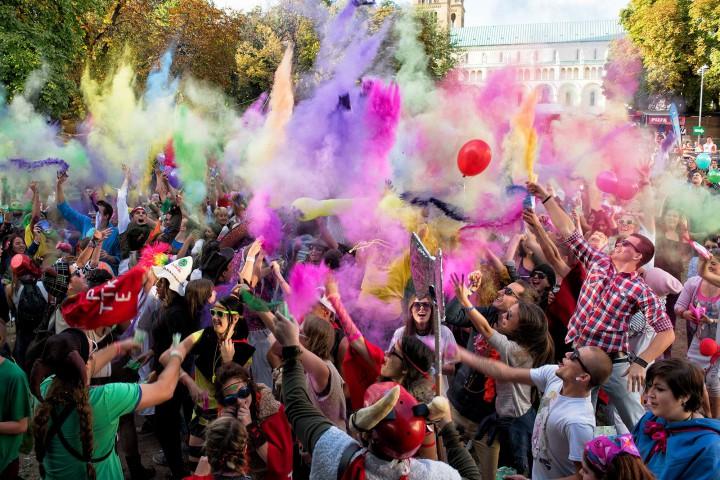 pécs city karnevál