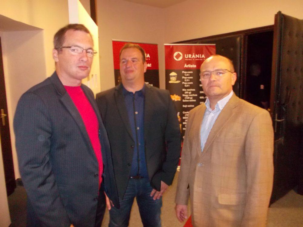 Farkas Attila, Szabó Krisztián, és Girán János az Uránia moziban