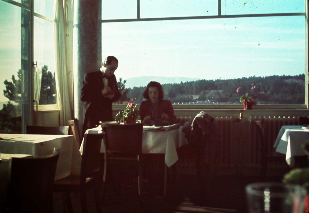 1940-ben így festett az étterem belülről