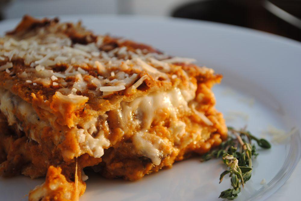 Sütőtök lasagne