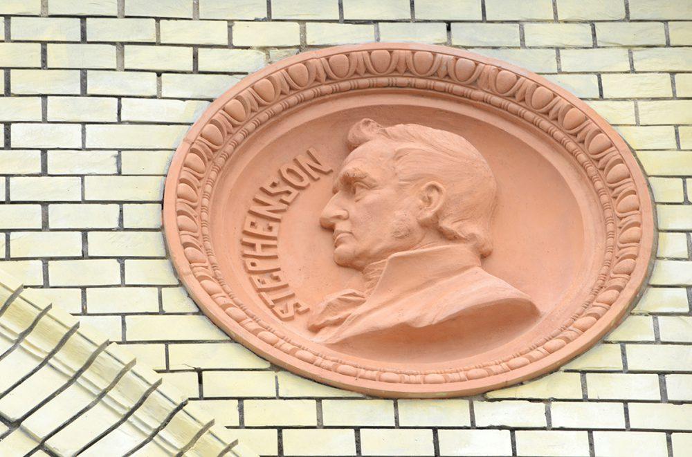 Stephenson emléke él Pécsett