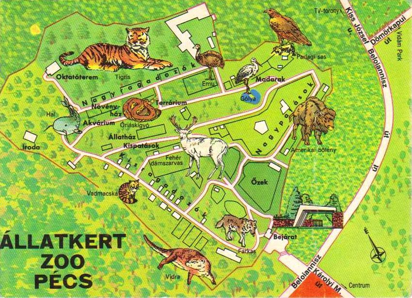 Az állatkert régi térképe