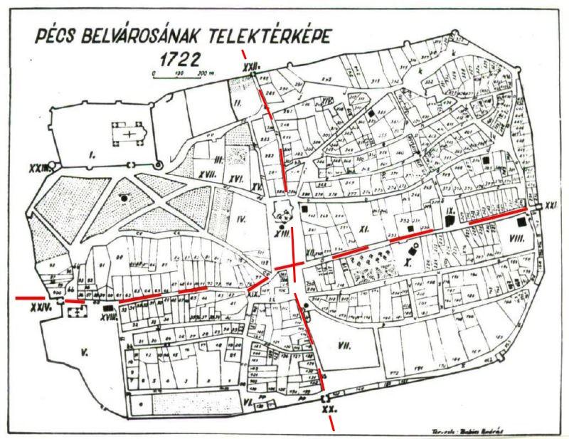 Az 1700-as években Pécs főtere a forgalom középpontja volta